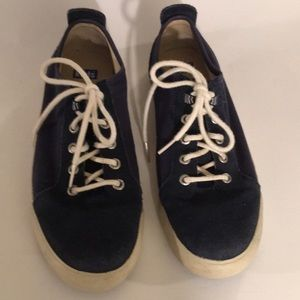 Ked's Navy Suede Canvas Boat Shoes